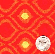 "Springs Industries ""Geometric"" Red & Orange"