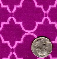 "Springs Industries ""Geometric"" Purple"