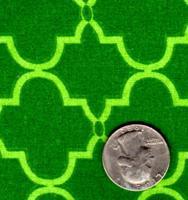 """Springs Industries """"Geometric"""" Green"""