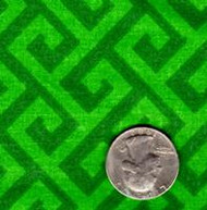 "Springs Industries ""Geometric"" Green Greek Key"