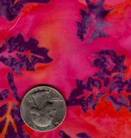 AAAQuilter's Supply Batik Pink Leaf 019