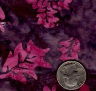 AAAQuilter's Supply Batik Brown/Purple Leaf 022