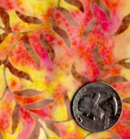 AAAQuilter's Supply Batik Yellow/Orange Vine 029