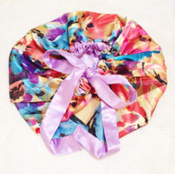 Water Color Reversible Satin Bonnet
