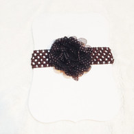 Brown Spotted Crochet Headband