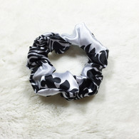 Fancy Damask Satin Scrunchie