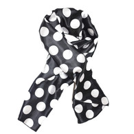 Oreo Cookie Edge Laying Rectangular Satin Scarf