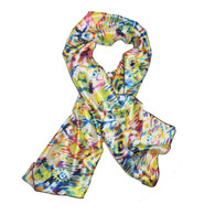 Prism Edge Laying Rectangular Satin Scarf