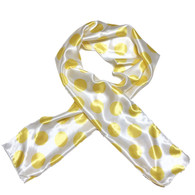 Lemon Drop Edge Laying Rectangular Satin Scarf