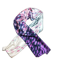 Purple Rain Edge Laying Rectangular Satin Scarf