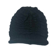 Black slouchy knit hat