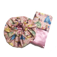 Princess Tiana and Friends Bonnet and Pillowcase Set
