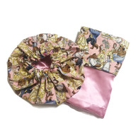 Beauty and the Beast Bonnet and Pillowcase Set