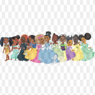 Group of Princesses Downloadable .png File