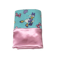 Minnie Mouse Teal Satin Pillowcase