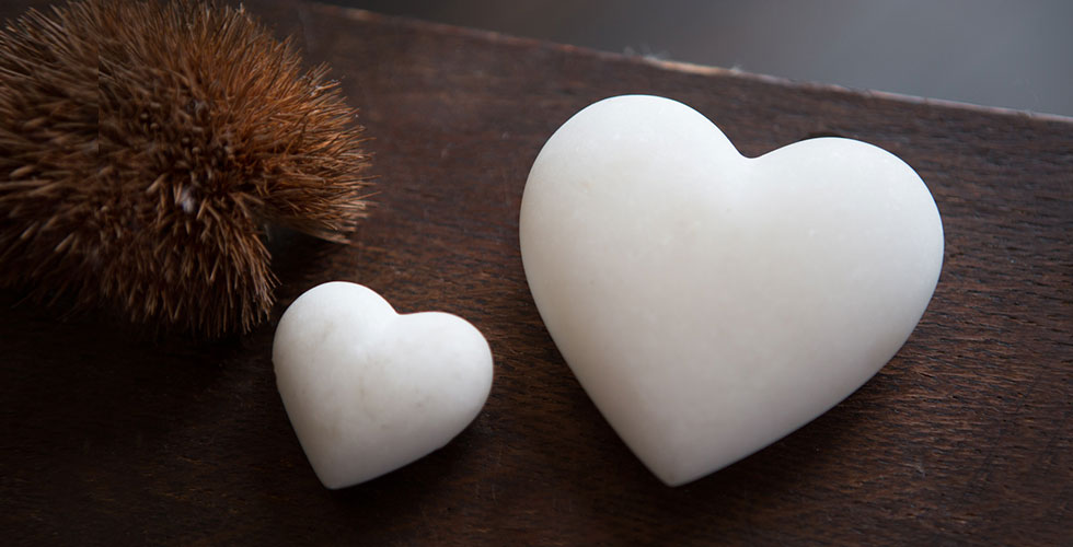 White Marble Hearts