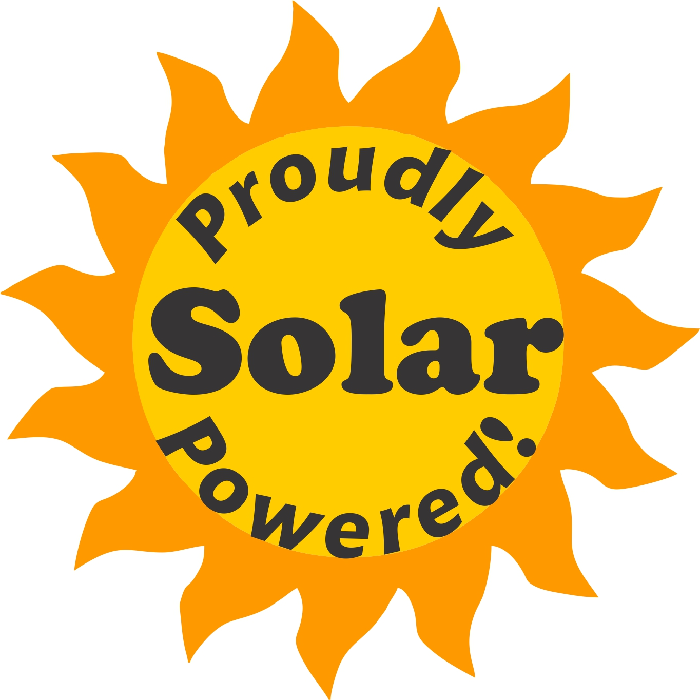 PosterEnvy Proudly Solar Powered Logo