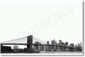 Brooklyn Bridge New York City Travel Poster