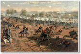Battle of Gettysburg by Thure de Thulstrup - Showing Picketts Charge - NEW Classroom Social Studies Poster