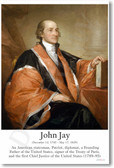 John Jay - Founding Father - NEW Classroom Social Studies Poster