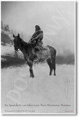 Crow Tribe Scout on Horseback - NEW Classroom Social Studies Poster