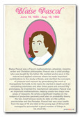 Blaise Pascal - NEW Classroom Social Studies Poster
