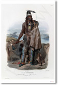 Minatarre Native American Chief 1840 - NEW Classroom Social Studies Poster