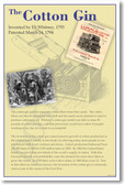 The Cotton Gin - NEW US History Invention Classroom School POSTER