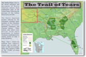 The Trail of Tears - Social Studies Poster