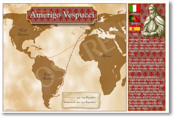 Amerigo Vespucci Map Of America.The Expeditions Of Explorer Amerigo Vespucci Social Studies