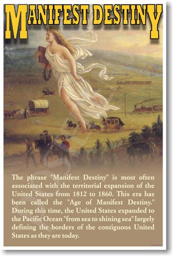 Manifest Destiny U.S. History Social Studies Poster (ss041) John Gast 1872 American Progress painter painting westward expansion PosterEnvy classroom