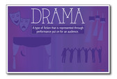Drama - NEW Classroom Reading and Writing Poster