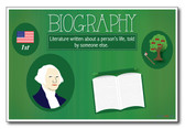 Biography - NEW Classroom Reading and Writing Poster