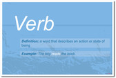 Verb - NEW Language Arts Classroom Poster