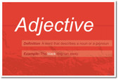 Adjective - NEW Language Arts Classroom Poster