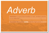 Adverb - NEW Language Arts Classroom Poster
