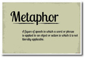 Metaphor - NEW Language Arts Classroom Poster