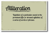 Alliteration - NEW Language Arts Classroom Poster