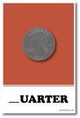 New Classroom Poster - Quarter Missing Letter Exercise