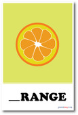 Orange Missing Letter Exercise - NEW Classroom Poster