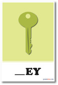 Key Missing Letter Exercise - NEW Classroom Educational POSTER