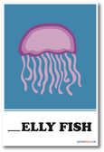 Jelly Fish Missing Letter Exercise - NEW Classroom Educational POSTER