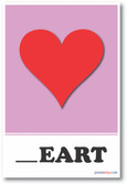 Heart Missing Letter Exercise - NEW Educational POSTER