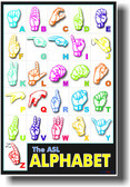 American Sign Language - Alphabet Poster rw055