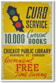 Chicago Public Library - NEW Vintage Reprint Poster
