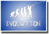 Trumpet Evolution - Blue - NEW Music Poster