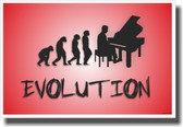 Piano Evolution - Red - NEW Music Poster