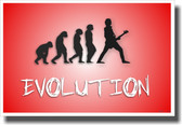 Bass Evolution - Red - NEW Music Poster