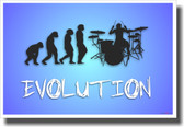 Drummer Evolution - NEW Music Poster