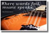 Where Words Fail Music - Mandolin 2 - NEW Music Poster
